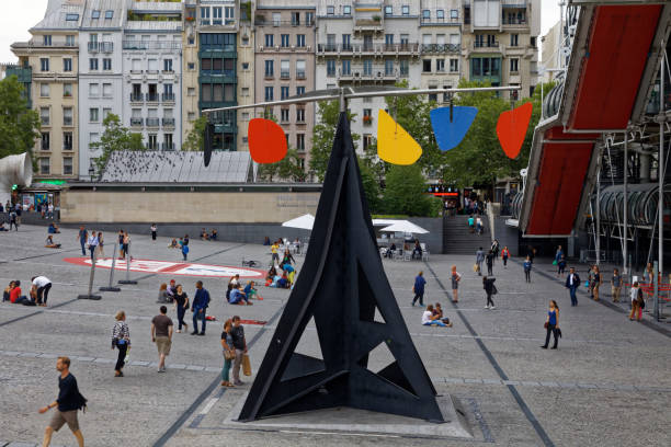 Calder's Horizontal in Paris stock photo