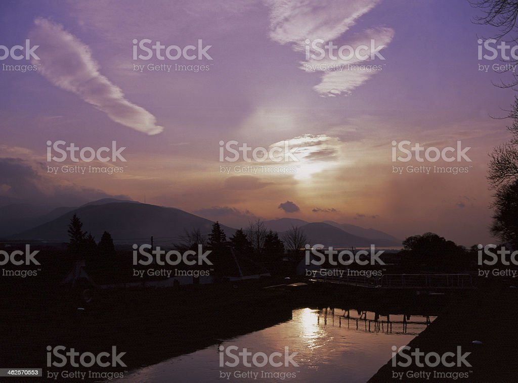 Caledonian Canal, Banavie, nr. Fort William stock photo