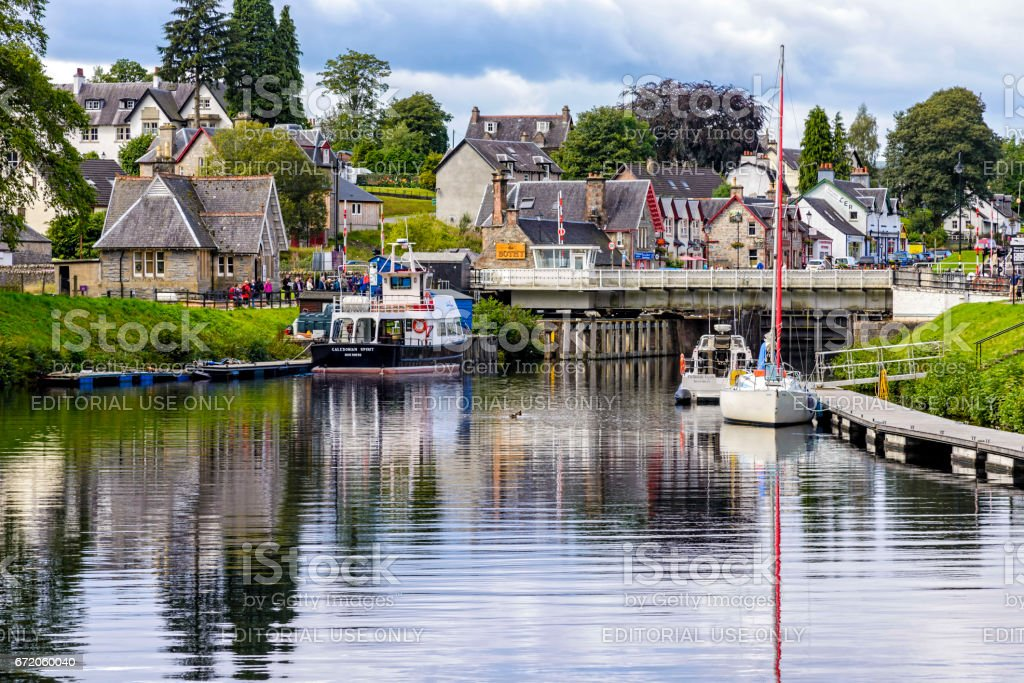 Caledonian Canal in Fort Augustus, United Kingdom stock photo