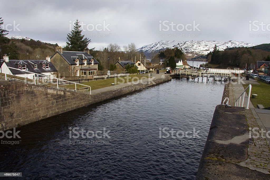 Caledonian channel stock photo