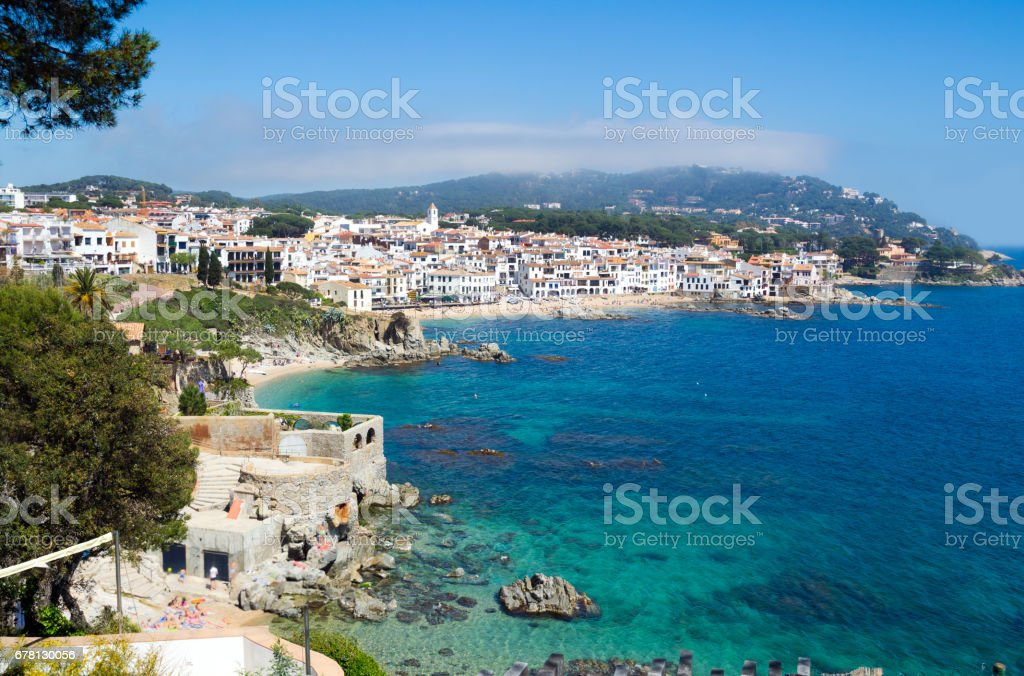 Calella de Palafrugell, Costa Brava stock photo