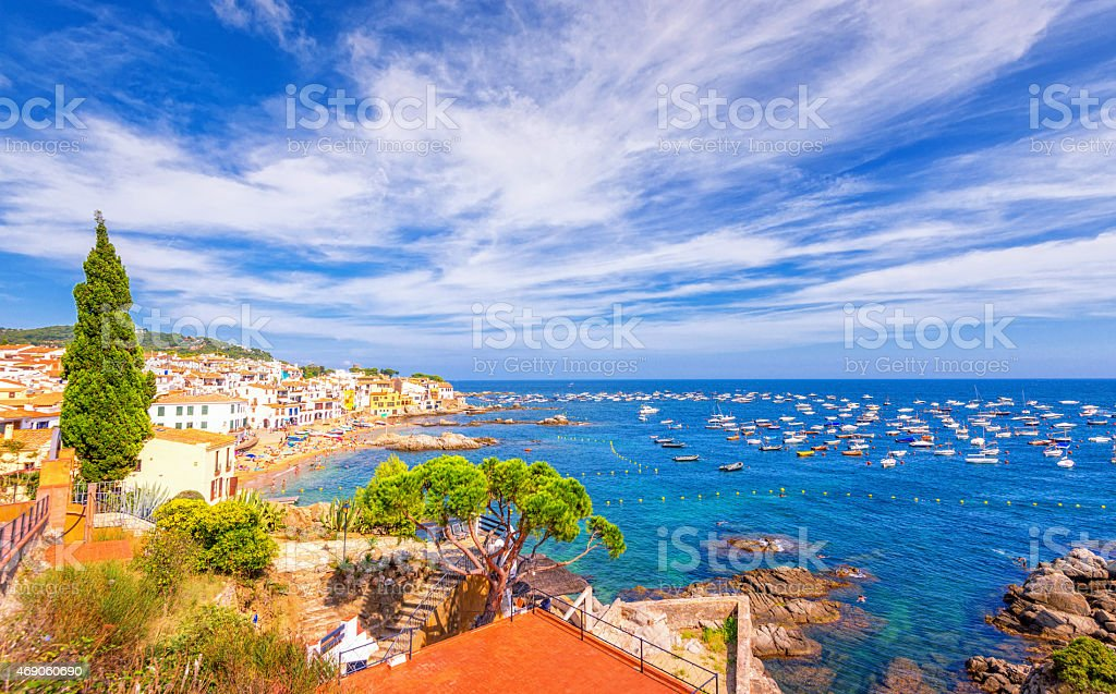 Calella de Palafrugell, Costa Brava, Spai stock photo