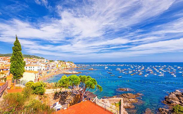 Calella de Palafrugell, Costa Brava, Spai - foto de stock