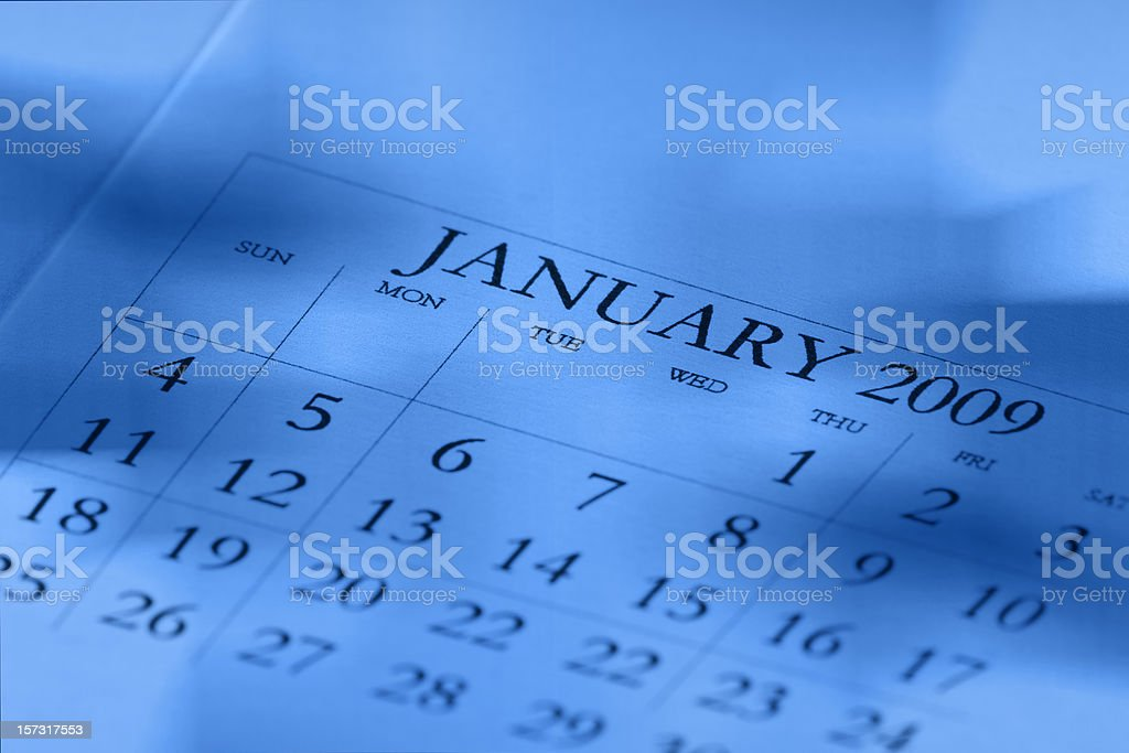 Calendar 2009 royalty-free stock photo