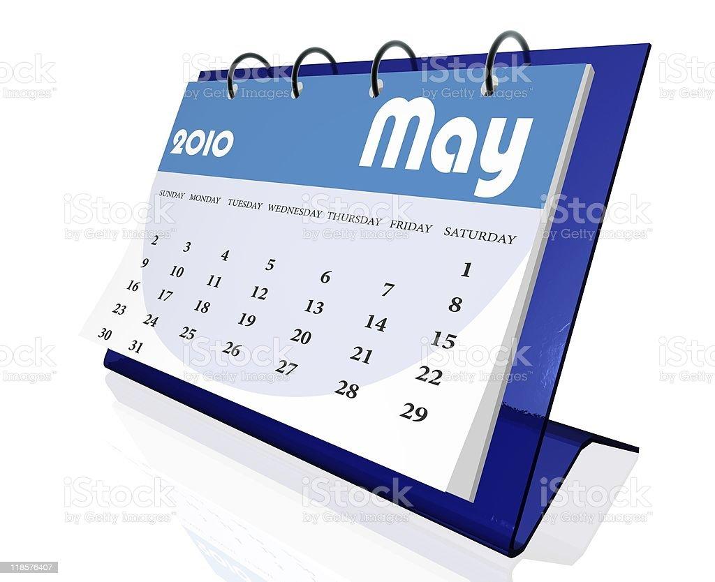 calendar 2010 royalty-free stock photo