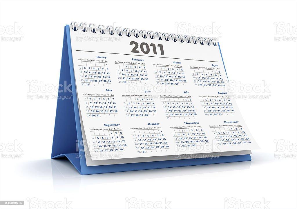 Calendar 2011 royalty-free stock photo