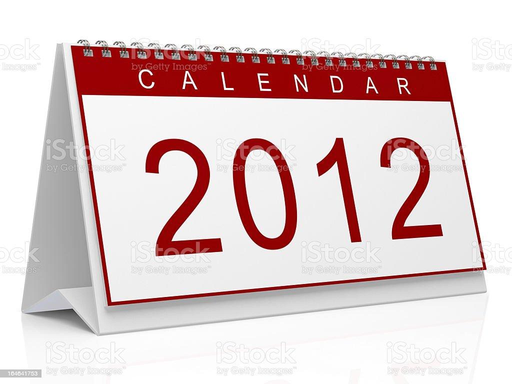 Calendar 2012 stock photo