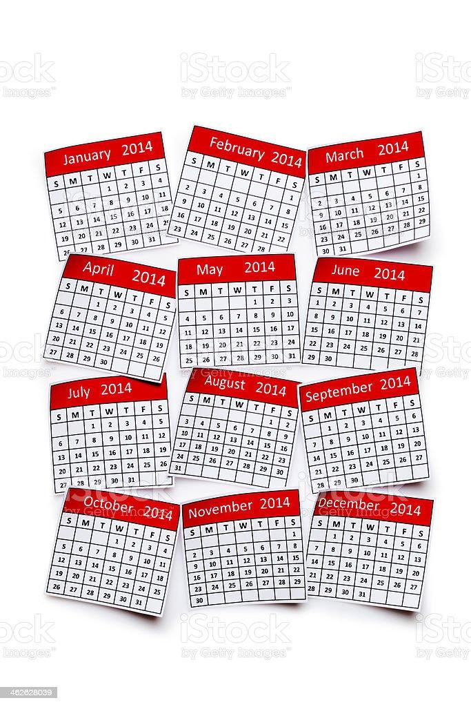 Calendário de 2014 - foto de acervo