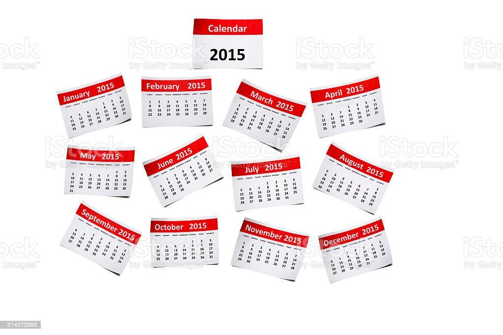 Calendário de 2015 - foto de acervo