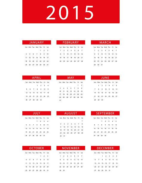 Calendario 2015 - foto de stock
