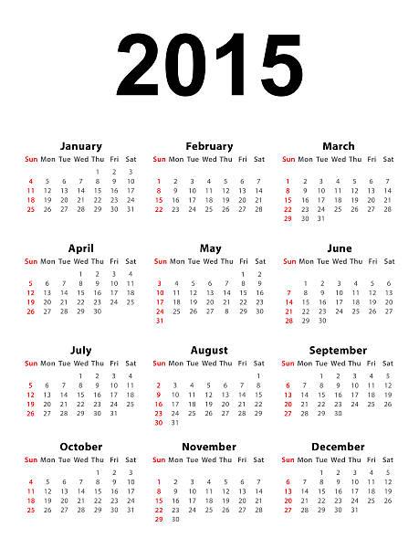 calendrier 2015 portrait - 2015 photos et images de collection