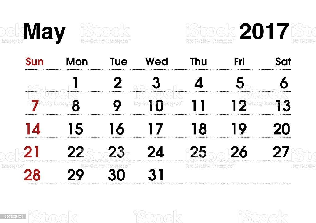 Fotografía de Calendario De 2017 Calendario De Planificación Para ...