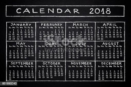 istock Calendar 2018 851893240