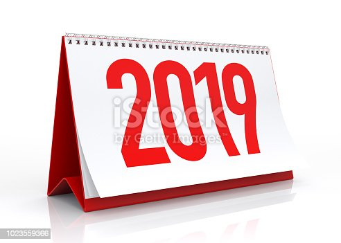 istock Calendar 2019. Isolated on White. 1023559366