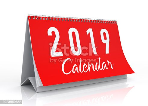 istock Calendar 2019. Isolated on White. 1023559382