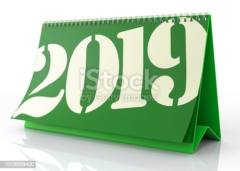 istock Calendar 2019. Isolated on White. 1023559400
