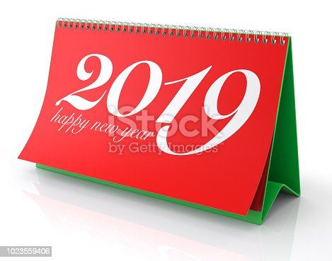 istock Calendar 2019. Isolated on White. 1023559406