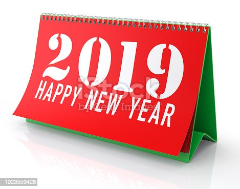 istock Calendar 2019. Isolated on White. 1023559426