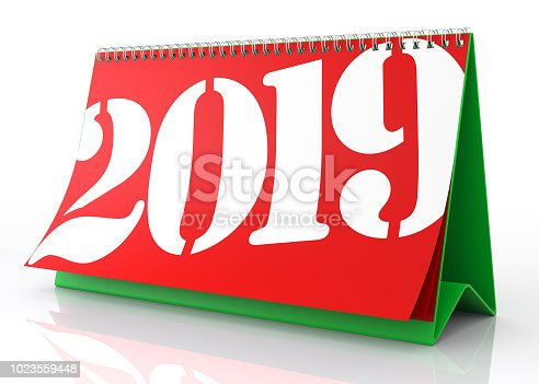 istock Calendar 2019. Isolated on White. 1023559448