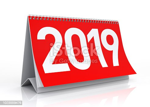 istock Calendar 2019. Isolated on White. 1023559476