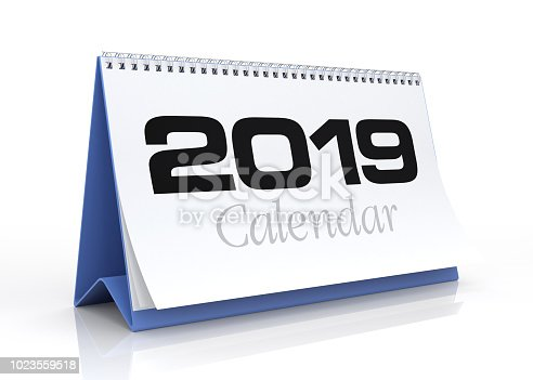 istock Calendar 2019. Isolated on White. 1023559518