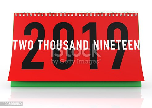 istock Calendar 2019. Isolated on White. 1023559560