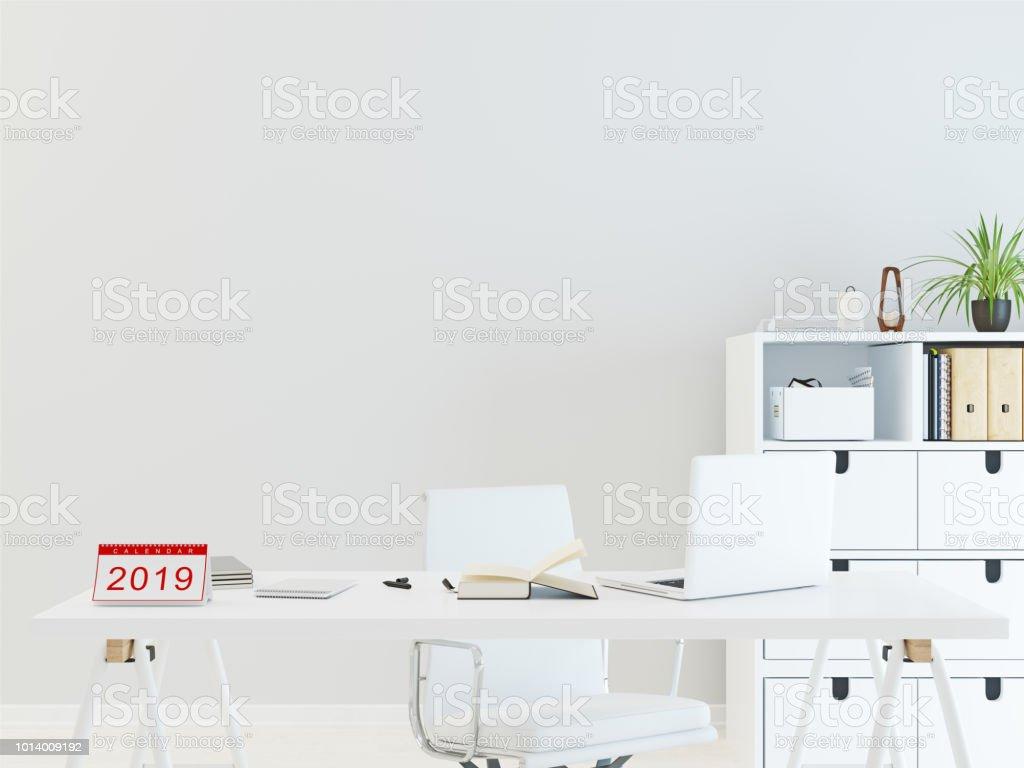 Calendar 2019 On Desk Office Stock Photo - Download Image