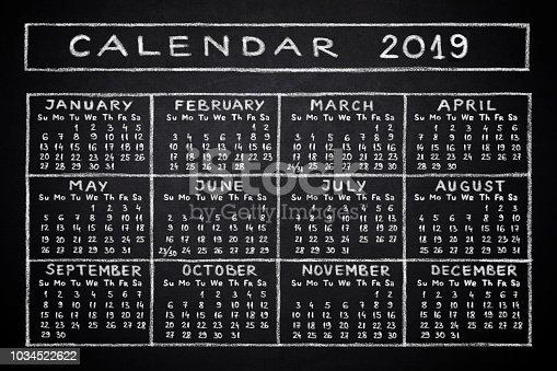 istock Calendar 2019 1034522622