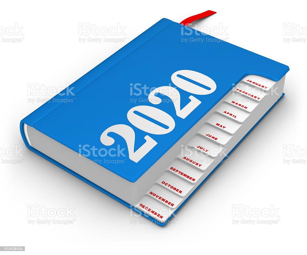 Calendar 2020 stock photo