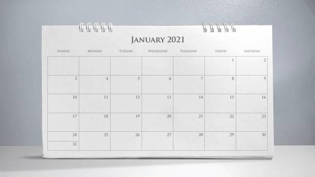 kalender 2021 - januari bildbanksfoton och bilder