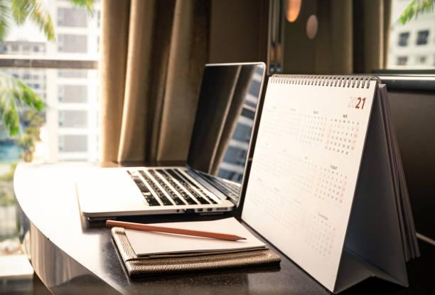 Calendar 2021 stock photo