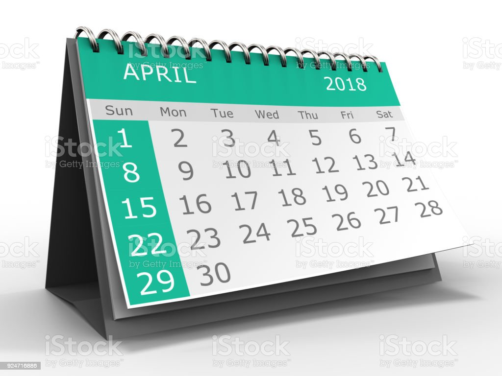 calendar 3d stock photo