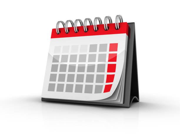 BLANK-Kalender - 3D-Rendering – Foto