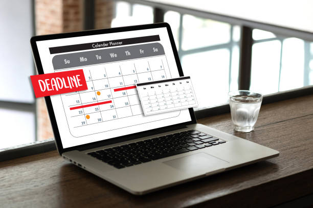 calendar and deadline planner organization management remind - timeline visual aid stock photos and pictures