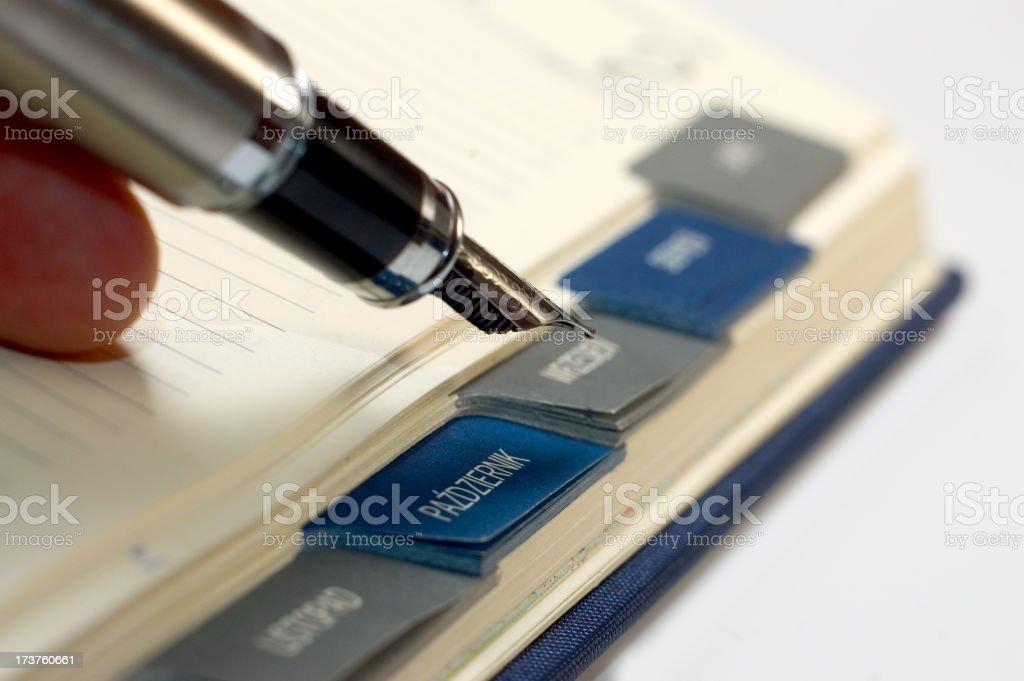 Calendar and pen royalty-free stock photo
