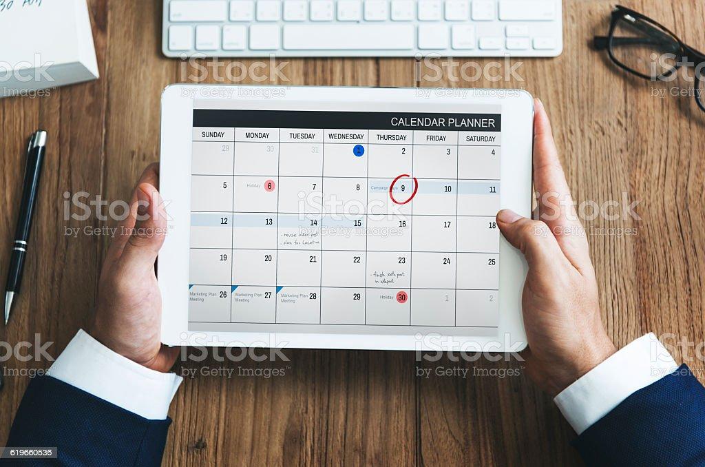 Calendar Appointment Schedule Memo Management Organizer Urgency stock photo