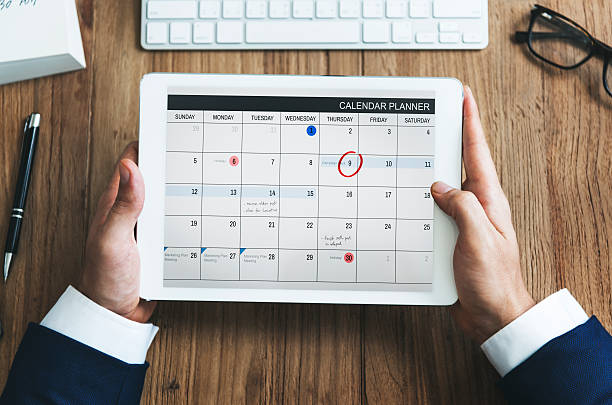 calendar appointment schedule memo management organizer urgency - calendar stock photos and pictures