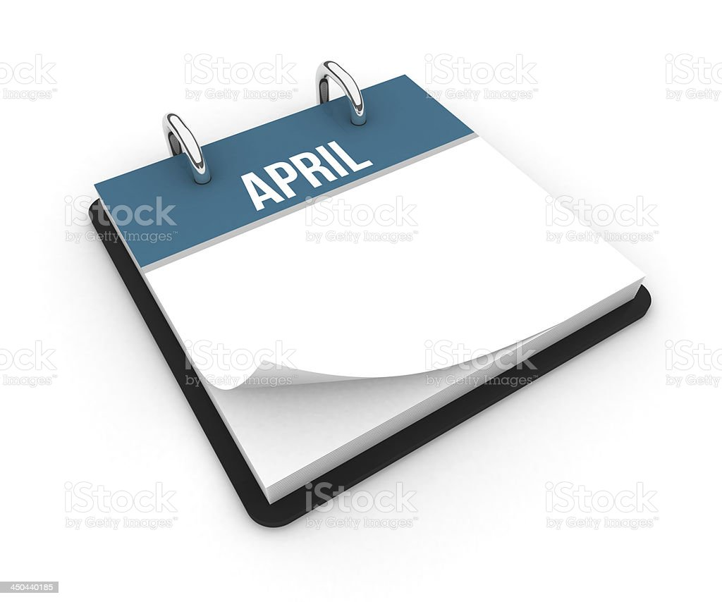 Calendar - April royalty-free stock photo