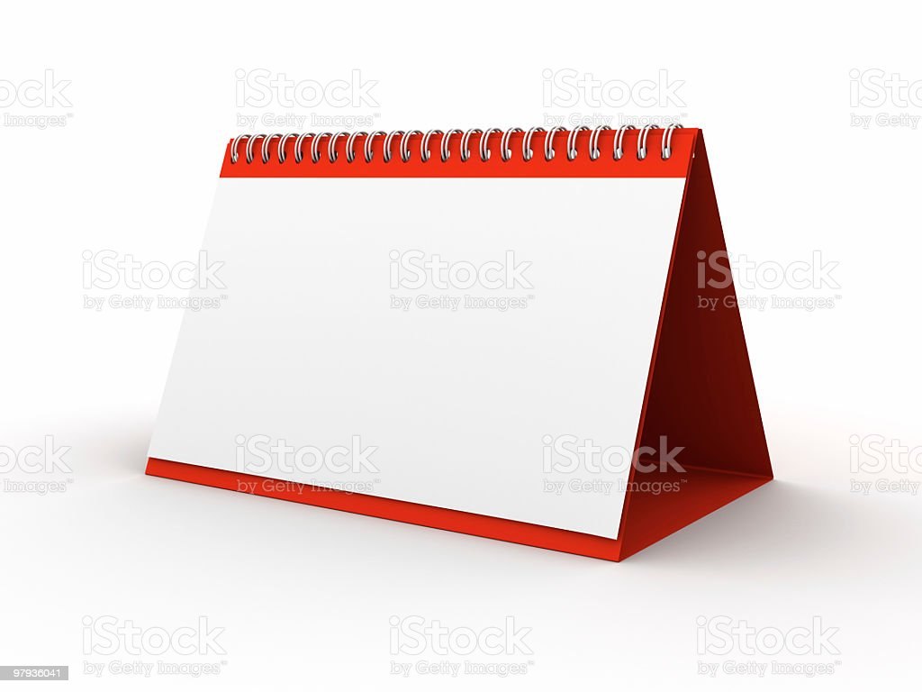 Calendar blank royalty-free stock photo