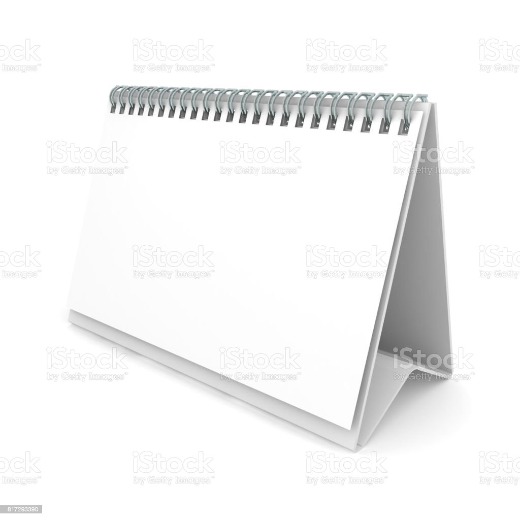 Calendar blank template copyspace stock photo