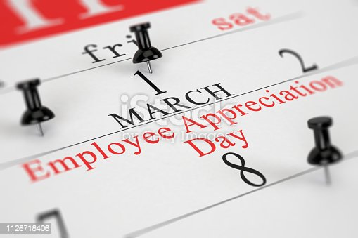 Calendar Concept Employee Appreciation Day