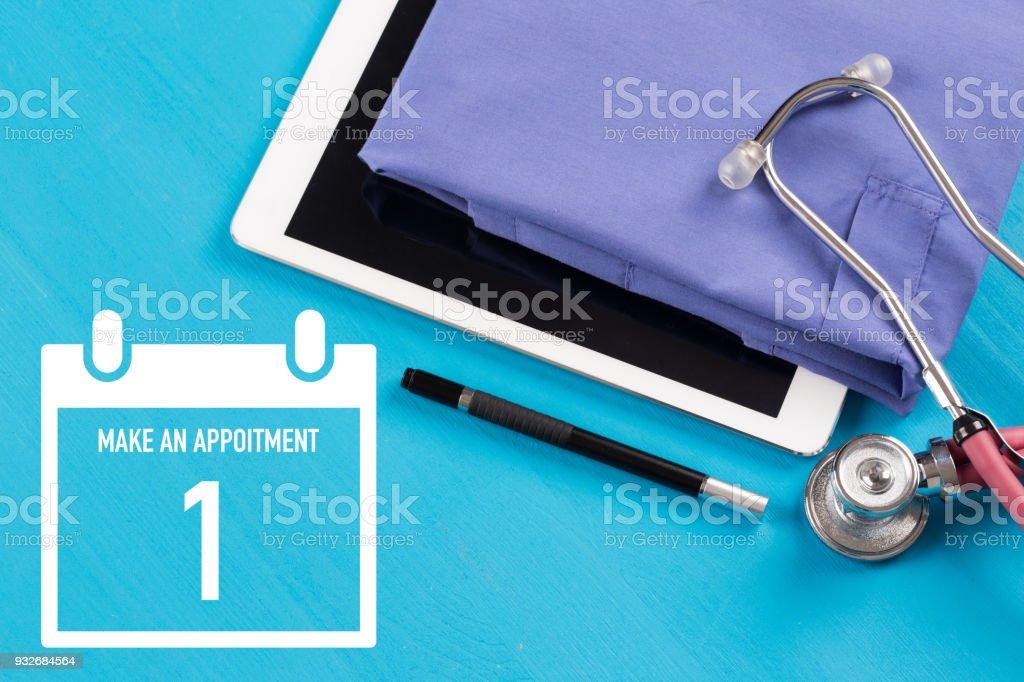 Calendar Concept: Make an Appoitment - Organizer - Planning - Schdule stock photo