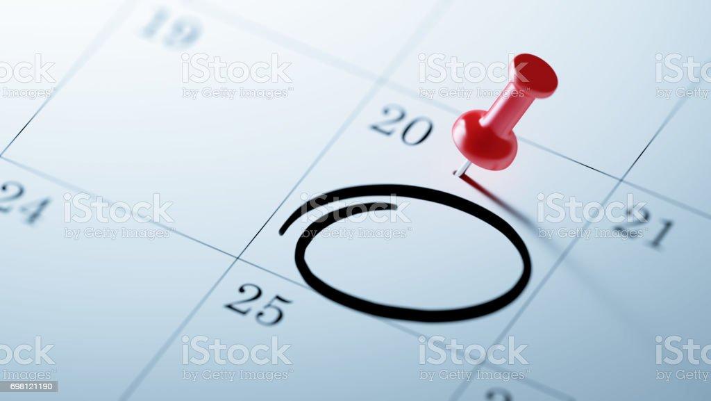Kalender-Konzept - Lizenzfrei Blau Stock-Foto