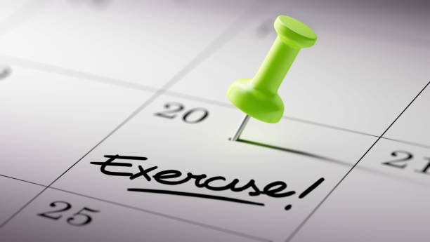 kalender-konceptet - calendar workout bildbanksfoton och bilder