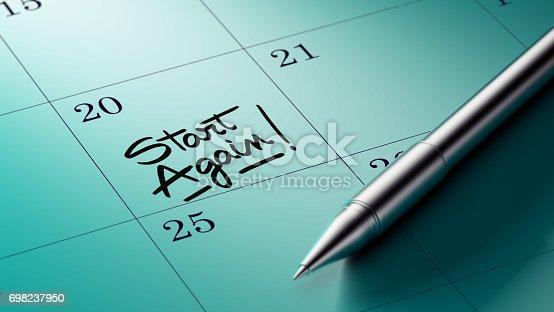 istock Calendar Concept 698237950