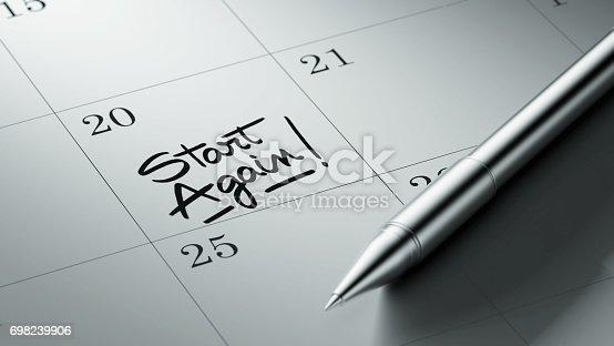 istock Calendar Concept 698239906