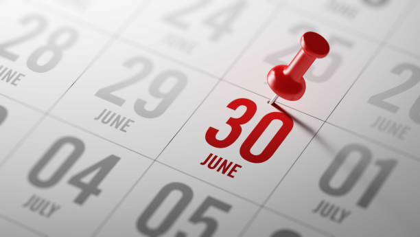 calendar concept - june stock photos and pictures
