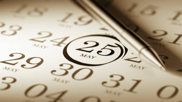 Concepto de calendario - foto de stock