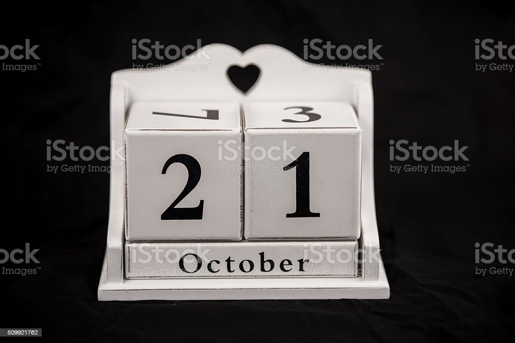 Kalender Würfel Oktober, 21., 21, 21. – Foto