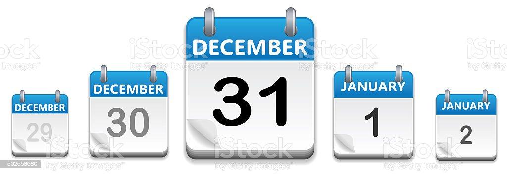 Calendar Date December 31 stock photo